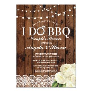 I DO BBQ Couple's Shower String Lights Rose Invite