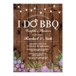I DO BBQ Couples Shower String Lights Wood Invite