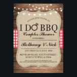 """I DO BBQ Couples Showers Rustic Lights Invite<br><div class=""""desc"""">I DO BBQ rustic invitation with string lights. Changing your listing for a couples shower,  engagement party,  wedding BBQ.</div>"""