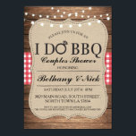 "I DO BBQ Couples Showers Rustic Lights Invite<br><div class=""desc"">I DO BBQ rustic invitation with string lights. Changing your listing for a couples shower,  engagement party,  wedding BBQ.</div>"