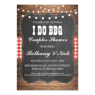 I DO BBQ Engagement Couples Showers Rustic Invite