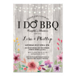 I DO BBQ Engagement Party Couple's Shower Floral Card