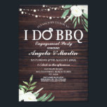 "I DO BBQ Engagement Party Couples Shower Invite<br><div class=""desc"">I DO BBQ ...  perfect for a couple's shower,  engagement party or even a rehearsal dinner,  change the text to suit your I DO BBQ party. 