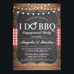 "I DO BBQ Engagement Party Couples Shower Invite<br><div class=""desc"">Change the text to suit your party,  create an engagement party or couples shower. This cute rustic invite with string lights is perfect for a romantic look.</div>"