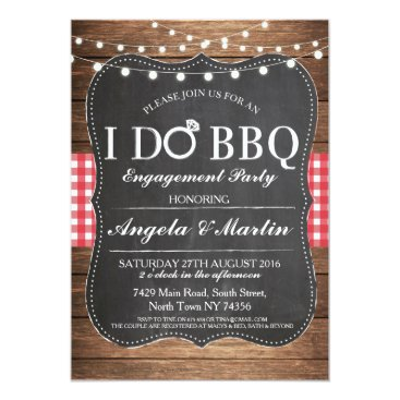 WOWWOWMEOW I DO BBQ Engagement Party Couples Shower Invite