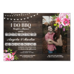 I DO BBQ Engagement Party Couples Shower Photo Invitation