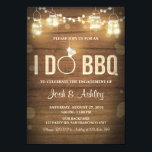 """I Do BBQ Engagement Party Couples shower Rustic Card<br><div class=""""desc"""">♥ A fun and rustic BByQ invitation!</div>"""