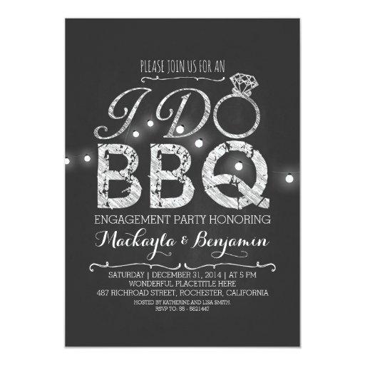I do bbq engagement party invitation zazzle for Engagement party invitations with photo