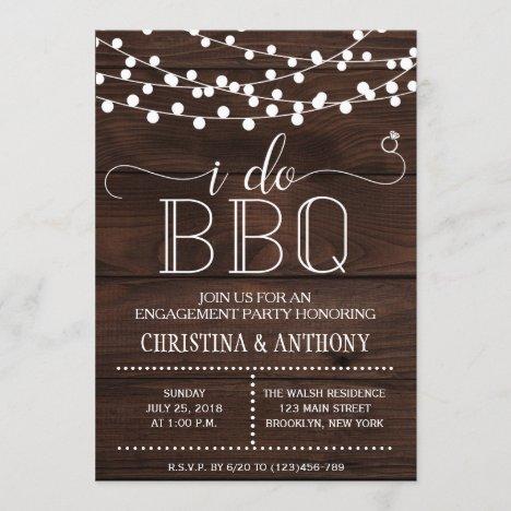 I Do BBQ Engagement Party Invitation