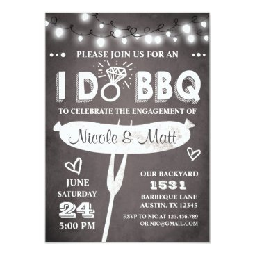 engagements I Do BBQ Engagement Party Invitation Rehearsal