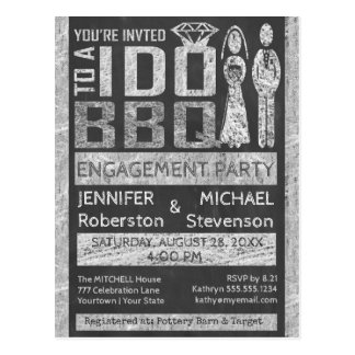 I Do   BBQ   Engagement Party Postcard