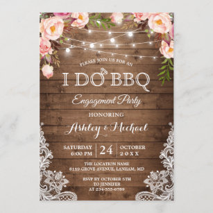 Custom Personalized #38 1.50 EACH Engagement Party Invitation Boho Blush Floral Flowers Printed Engagement Invitations