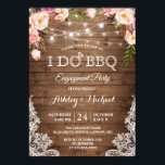 "I DO BBQ Engagement Party Rustic Country Floral Invitation<br><div class=""desc"">Rustic Country String Lights Lace Floral - I DO BBQ Engagement Party Invitation. (1) For further customization, please click the ""customize further"" link and use our design tool to modify this template. (2) If you prefer thicker papers / Matte Finish, you may consider to choose the Matte Paper Type. (3)...</div>"