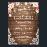 "I DO BBQ Engagement Party Rustic Country Floral Invitation<br><div class=""desc"">*** See Matching Items: https://zazzle.com/collections/119127021975794053 *** 