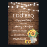 """I DO BBQ Engagement Party Sunflowers String Lights Invitation<br><div class=""""desc"""">Rustic Sunflowers Mason Jar String Lights - I DO BBQ Engagement Party Invitations! (1) For further customization, please click the """"customize further"""" link and use our design tool to modify this template. (2) If you prefer Thicker papers / Matte Finish, you may consider to choose the Matte Paper Type. (3)...</div>"""