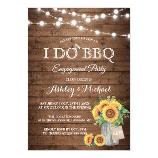 I DO BBQ Engagement Party Sunflowers String Lights Invitation Zazzle_invitation2