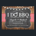 "I DO BBQ Engagment Couples Shower Party Invite<br><div class=""desc"">I DO BBQ check & rustic wood invite.</div>"