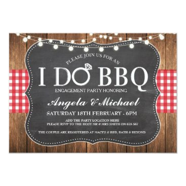 WOWWOWMEOW I DO BBQ Engagment Couples Shower Party Invite