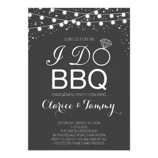 I do bbq invitation bbq engagement party zazzle for Online engagement party invitations