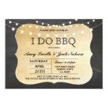 I DO BBQ Invitation Chalk Lights Couples Invite