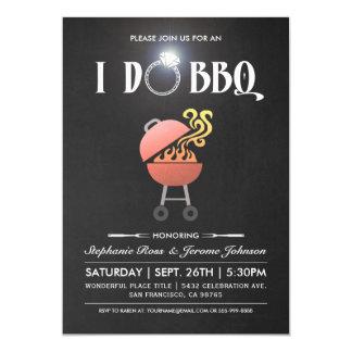 I Do BBQ Invitations - Chalkboard Diamond Ring