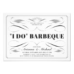 I Do BBQ Invitations - Custom Color Scrollwork