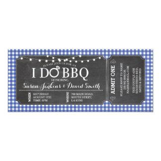I DO BBQ Navy Engagement Chalk Ticket Invitation