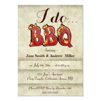 """I do BBQ party invitations 5"""" X 7"""" Invitation Card"""