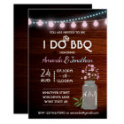 I DO BBQ pink and blue cosmos rustic add photo Card