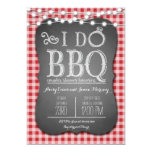 I Do BBQ Red Gingham Couples Shower in Chalk 5x7 Paper Invitation Card