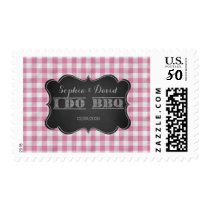 I DO BBQ Rustic Engagement Party Postage