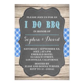 I DO BBQ Rustic Old Barn Engagement Invitation