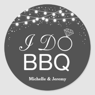 I Do BBQ Sticker / I Do BBQ envelope seals