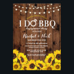 """I DO BBQ Sunflower Couples Shower Rustic Invite<br><div class=""""desc"""">I DO BBQ Sunflower invitation. Changing your listing for a couples shower,  engagement party,  wedding BBQ,  etc. Simply change the text to suit your party. Back print included.</div>"""