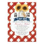 I Do Bbq Sunflower Mason Jar Couples Shower Card at Zazzle