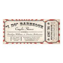 I DO BBQ Ticket Invitations   Couples Shower
