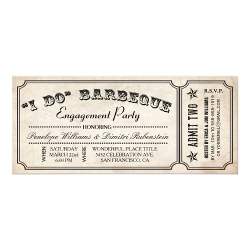 I Do BBQ Ticket Invitations