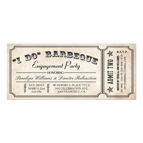 I Do BBQ Ticket Invitations