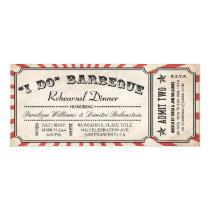I DO BBQ Ticket Invitations   Rehearsal Dinner