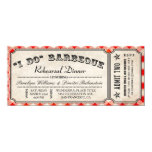 I DO BBQ Ticket Invitations | Rehearsal Dinner
