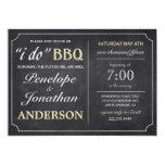 I DO BBQ Vintage Chalkboard Invitations