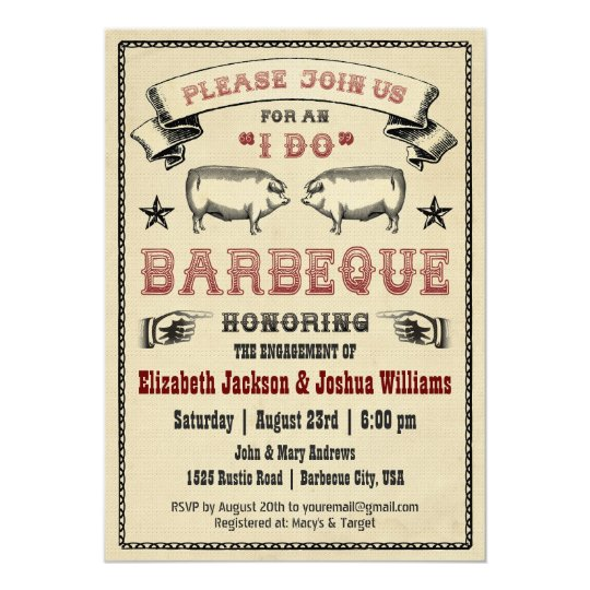 i do bbq vintage pig roast invitation zazzle com