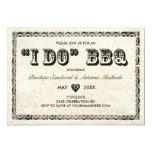 "I DO BBQ Vintage Telegram Invitations 5"" X 7"" Invitation Card"