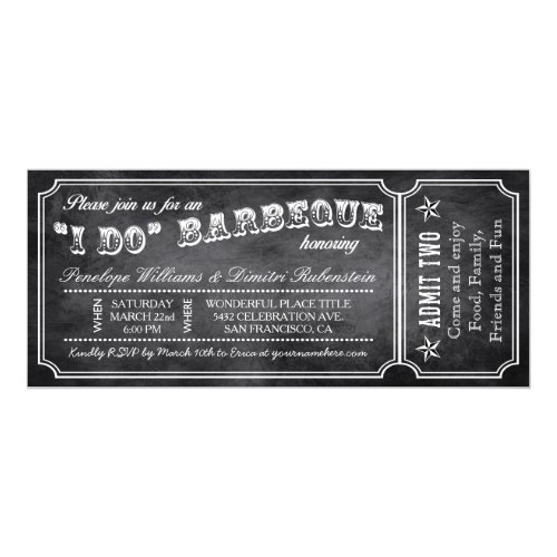 I Do BBQ Ticket Invite