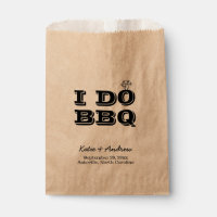 I Do BBQ Wedding Favor or Utensil Holder Favor Bag