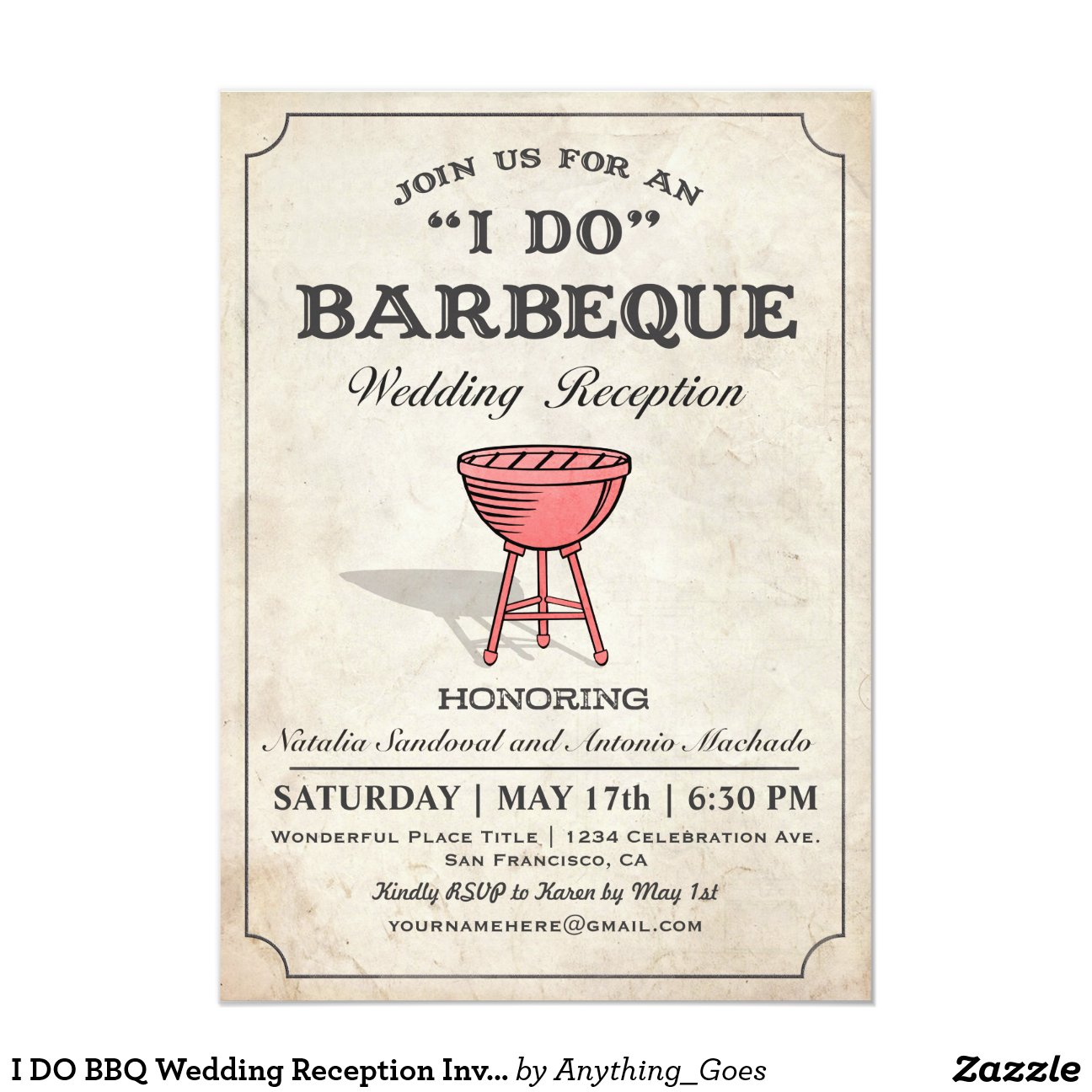 I Do Bbq Wedding Invitations 015 - I Do Bbq Wedding Invitations
