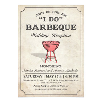 I DO BBQ Wedding Reception Invitations