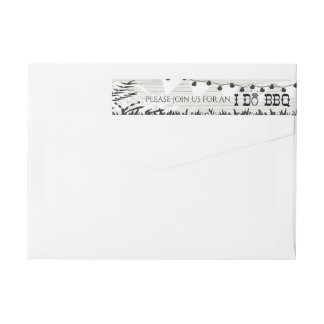 I Do BBQ Wood Texture Return Address Labels