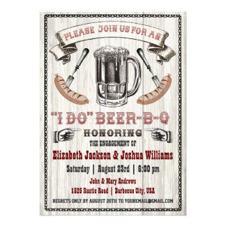 I DO Beer-B-Q Engagement Party Invite
