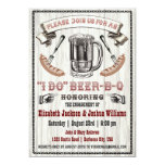 """I DO Beer-B-Q Engagement Party Invite 5"""" X 7"""" Invitation Card"""